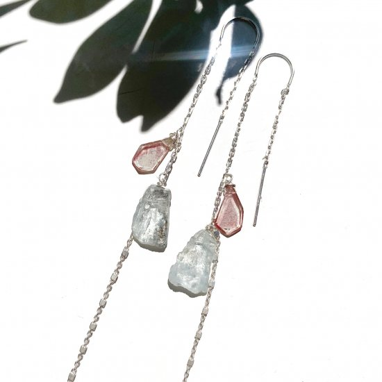 <img class='new_mark_img1' src='https://img.shop-pro.jp/img/new/icons14.gif' style='border:none;display:inline;margin:0px;padding:0px;width:auto;' />〈Silver〉Aquamarine & Andesine