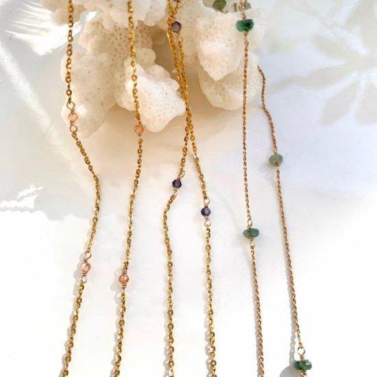 〈Stone station necklace〉