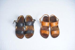 """MOTO/モト""Leather Strap Sandal/Brown/Black"