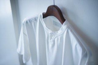 """Phlannel,フランネル""Suvin Cotton Henry Neck T-Shirt/White/Camel/Green Blue/Black"