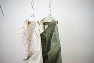 """Phlannel,フランネル""Cotton Satin Cropped Wide Trousers/Beige/Khaki Green/"