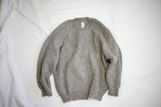 O Projectオープロジェクト Knitted Crew Neck/Gray