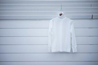 Phlannelフランネル Suvin Cotton Turtleneck T-Shirt/White