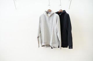 Graphpaper(グラフペーパー)LOOPWHEELER for Graphpaper Harf Zip Parka/H.Gray/Black/