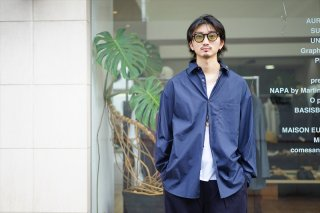 Graphpaper(グラフペーパー)Broad L/S Oversized Regular Collar Shirt