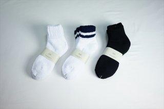 UNIVERSAL PRODUCTS(ユニバーサルプロダクツ)/3P Pile Socks /White/Navy/Black/