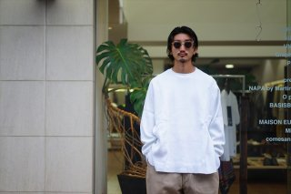 Graphpaper(グラフペーパー)Waffle L/S Tee/White/Gray/Navy/Black/