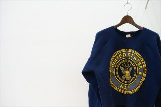 MAISON EUREKA(メゾンエウレカ)Vintage Rework Sweat 2Tuck/Navy United States Logo/Navy