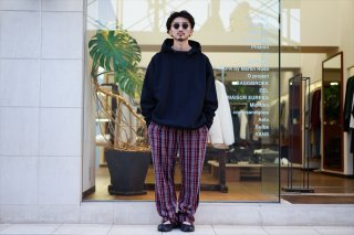 UNUSED(アンユーズド)Lambs Wool Check Pants/Navy Check