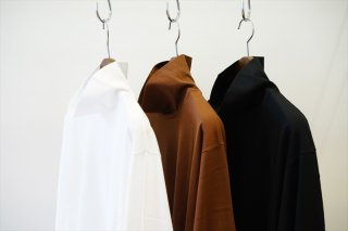 AURALEE(オーラリー)LUSTER PLATING HI NECK L/S TEE/White/Brown/Black/