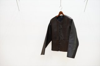 EXCLUSIVE BALUCA別注/UNUSED(アンユーズド)No Collar Leather Jacket/Black