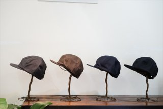 comesandgoes(カムズアンドゴーズ)Suit Fabric Short Brim Cap/Gray/Khaki Brown/Navy/Black/