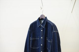 Graphpaper(グラフペーパー)Denim Regular Collar Shirt/INDIGO (GM211-5007B)