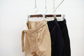 Graphpaper(グラフペーパー)Hard Twill Belted Pants/Beige/Navy/Black/(GM211-40002B)