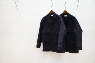 Graphpaper(グラフペーパー)Hard Twill Fatigue Jacket/Navy/Black/(GM211-30034B)