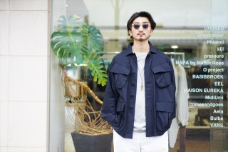 Graphpaper(グラフペーパー)Cupro Military Jacket/Black (GM211-30054)