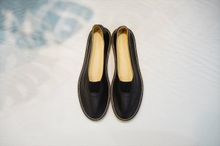 AURALEE(オーラリー)LEATHER SLIP-ON Made by FOOT THE COACHER/Black