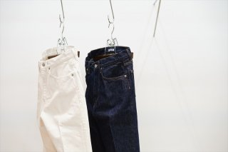 AURALEE(オーラリー)Hard Twist Denim 5P Pants/White×Ivory/Indigo/(A00P01DM)