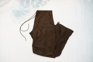 AURALEE(オーラリー) HIGH COUNT LIGHT NYLON FATIGUE PANTS/Dark Brown(A21SP02NL)