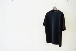AURALEE(オーラリー)Wool Recycle Polyester High Gauge Rib Knit Tee/Black
