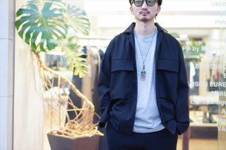 Graphparper(グラフペーパー) Wooly Cotton Military Jacket/Black