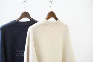 POET MEETS DUBWISE(ポエトミーツ ダブワイズ)PMD+Embroidery GROUNDED Oversized Sweat /Beige/Charcoal/