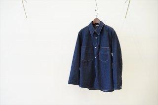 AURALEE(オーラリー)Hard Twist Light Denim Shirts Blouson/Indigo