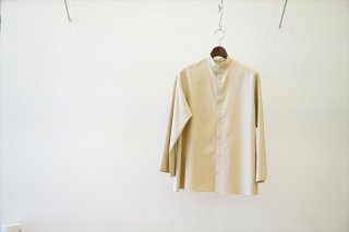 AURALEE for women's (オーラリーウィメンズ) WASHED FINX TWILL KAFTAN SHIRTS/Light Beige