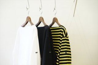 """""""outil(ウティ)""""TRICOT AAST/White/Black/Black×Yellow"""