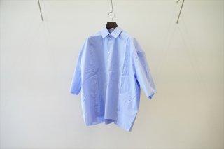 CAMIEL FORTGENS(カミエルフォートヘンス)/Research Double Shirt Shirt Cotton /Blue White Stripe