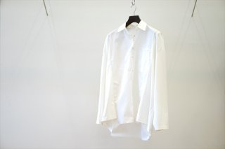 CAMIEL FORTGENS(カミエルフォートヘンス) RESEARCH SHIRT TEE LONG SLEEVE COTTON/JERSEY WHITE