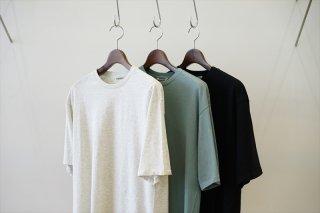 AURALEE(オーラリー)SEAMLESS CREW NECK HALF SLEEVE TEE/Top Gray/Teal Green/Black/