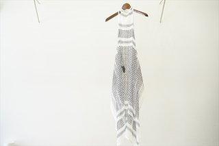 UNUSED for women's(アンユーズド ウィメンズ) Afghanprint Apron Dress/White×Black