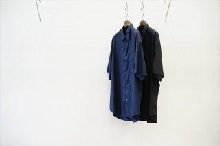 Graphpaper(グラフペーパー)Broad S/S Oversized Regular Collar Shirt/Navy/Black/