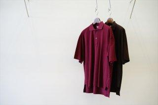 AURALEE(オーラリー)Super Fine Cotton Salt Shrink Pique Big Polo/Bordeaux/Dark Brown/