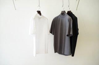 Graphpaper(グラフペーパー)S/S Mock Neck Tee/White/Gray/Black