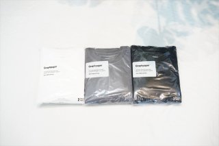 Graphpaper(グラフペーパー)2-Pack S/S Pocket Tee/White/Gray/Black