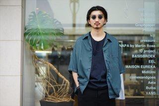 UNUSED(アンユーズド)Rayon Open Collar Shirt(US2013)/Dark Green