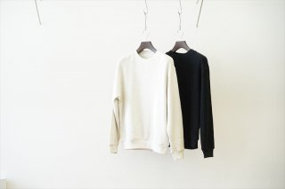 UNIVERSAL PRODUCTS(ユニバーサルプロダクツ)Middle Waffle Crew/Oatmeal/Black(213-60106)