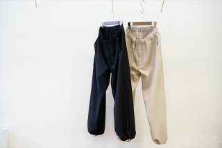 Graphpaper(グラフペーパー)Stretch Kersey Track Pants(GM213-40220)/Beige/Black