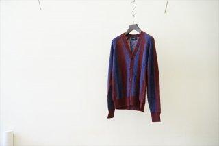 UNUSED(アンユーズド) Stripe Cardigan(US2096)/Navy×Antique Rose