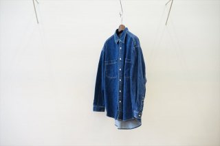 Graphpaper(グラフペーパー)Denim Regular Collar Shirt/FADE INDIGO (GM213-50078B)