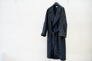 Graphpaper(グラフペーパー)Garment Dyed Gown Coat/Black(GU213-10196B)