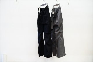 Graphpaper(グラフペーパー)Hard Twill Belted Pants/H.Charcoal/Black/(GM213-40002B)