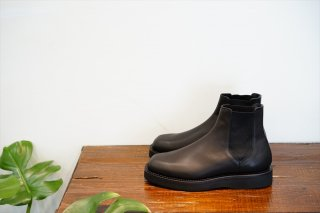 AURALEE(オーラリー)Leather Square Boots Made by foot the coacher/Black(A21AS01FT)