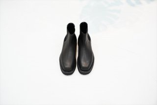 AURALEE for women(オーラリーウィメンズ)Leather Square Boots Made by foot the coacher/Black