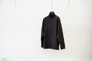 AURALEE(オーラリー)Wool Baby Alpaca Nepped Cable Knit Turtle Neck P/O /Mix Brown(A21AT01TC)