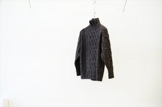 AURALEE for women(オーラリーウィメンズ)Wool Baby Alpaca Nepped Cable Knit Turtle Neck P/O(A21AT03TC)/Mix Brown
