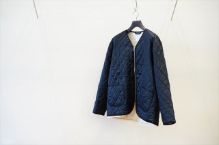 CAMIEL FORTGENS(カミエルフォートヘンス) CF.12.09.10 QUILTED LINING JACKET WOVEN DOWN VISCOSE/Navy