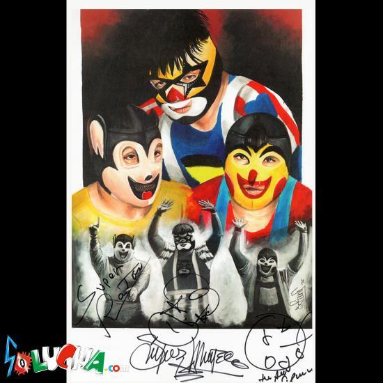 スペル・ラトン&ピノチョ&スペル・ムニエコ / Trio Fantasia  サイン入りアートピクチャー42X27cm